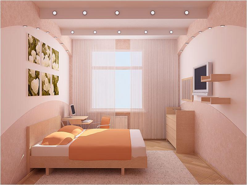 Ремонт в спальне интерьер