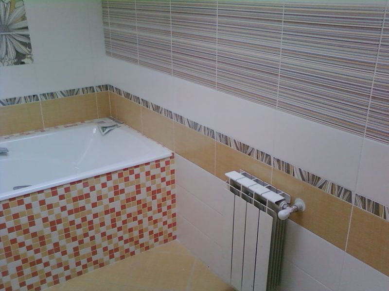 Ремонт ванной комнаты, укладка плитки